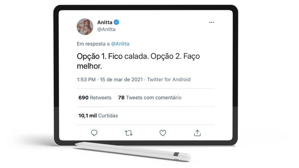 Twitter Anitta.