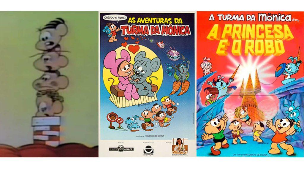 Primeiros filmes da Turma da Mônica.