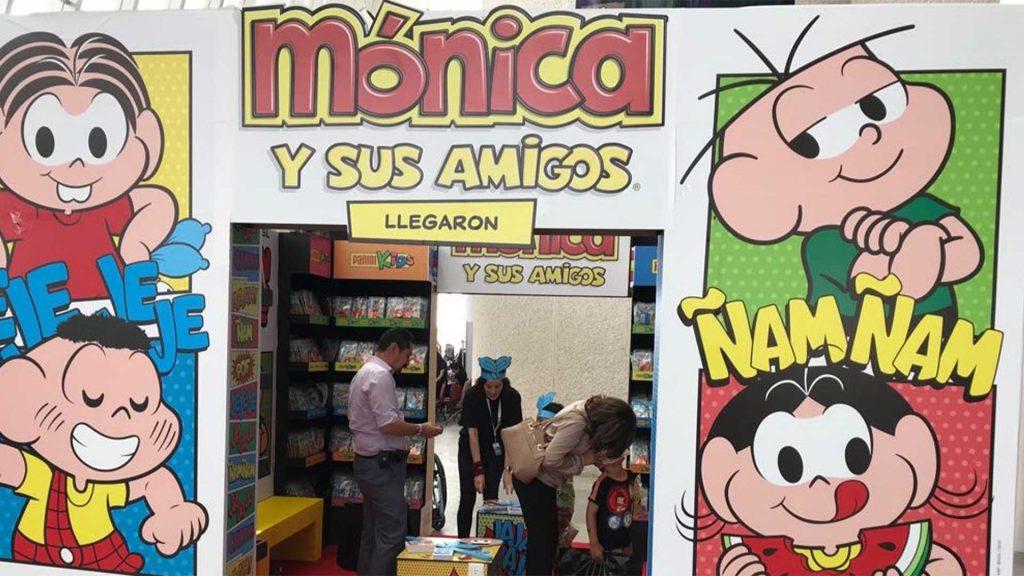 Banca da Turma da Mônica no México.