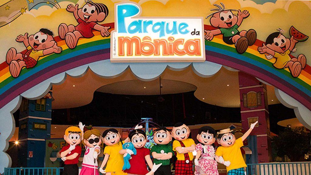 O Parque da Mônica localizado em São Paulo.